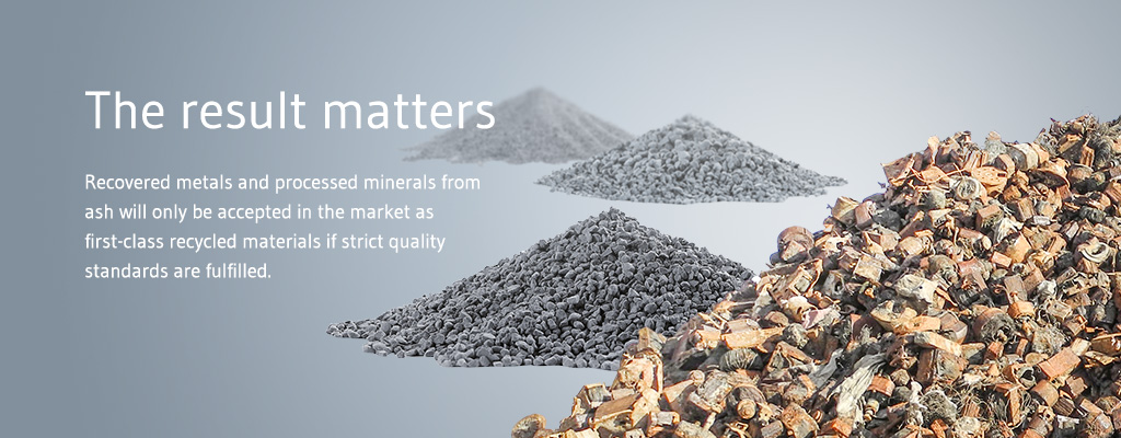 Sustainable secondary aggregates and recycled metals